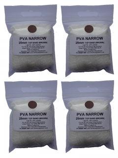 pva mesh x 4 refill - top band brown