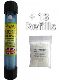 65 metres of pva mesh - 1x 5 metres on a tube in a tube + 12 refills