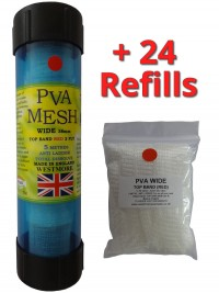 top band red - pva mesh 125 metres