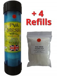 25 Metres of PVA Mesh - 1x 5 Metres on a Tube in a Tube + 4 Refills