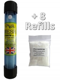 40 metres of pva mesh - 1x 5 metres on a tube in a tube + 7 refills